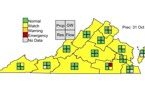 Drought Status VA Oct31