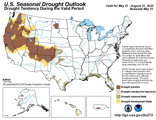 Drought Outlook US May 31